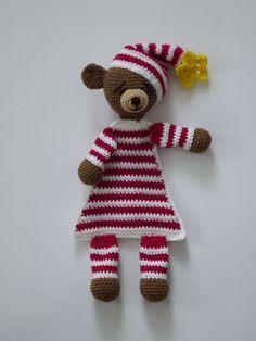 Bear, Crochet Bear, Bear Ragdoll, Amigurumi Bear, Pajamas Bear, Ragdoll Amigurumi Bear, Striped Pajamas Crochet Bear, Ragdoll Bear Plush by AlexsGiftShop on Etsy