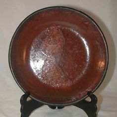 Antique Lead Glazed Redware Pie Plate Southeastern Pennsylvania