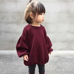 Toddler Kids Baby Girl Sweaters Blouse Lantern Long Sleeve Pullover T Shirt Tops