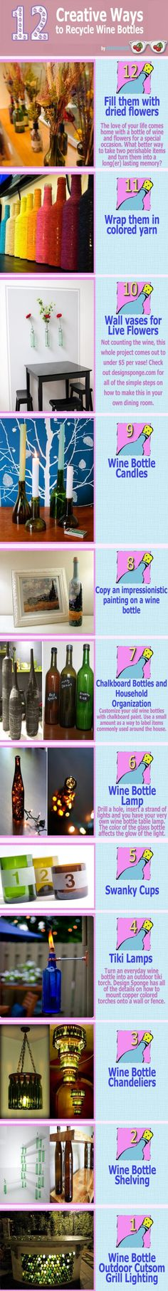 Creative ways to reuse wine bottles