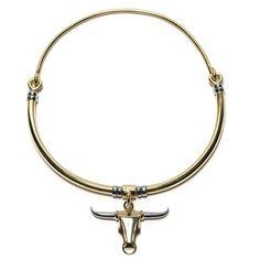 Pamela Love Toro Choker With Brass ($552) found on Polyvore featuring women's fashion, jewelry, necklaces, natural, pamela love jewelry, brass necklace, brass jewelry, choker jewellery and pamela love necklace