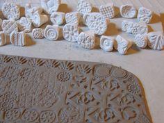Handgefertigte Stempel für Keramik-Clay-Stempel von chARiTyelise