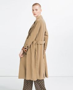 Image 3 of LONG CROSSOVER TRENCH COAT from Zara