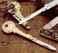 Having a knife on you is always a handy thing to have, and now you can easily carry a small knife with your keys with this key shaped knife. This small fold...