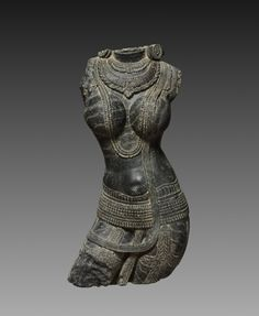See this work from the Cleveland Museum of Art's collection currently on view at the Museo del Palacio de Bellas Artes, Mexico – Female Torso (Tara), Eastern India , Pala period, century. Indian Eyes, Female Torso, Art Premier, Cleveland Museum Of Art, Art Sculpture, Buddhist Art, Stone Carving, Art Plastique, Indian Art