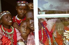 At the ADCAM Mara Vision School in Kenya. See how sandals made it all possible! By Xavi Menós----http://www.one.org/us/2013/11/13/photo-essay-maasai-beadwork-through-the-eyes-of-a-fashion-photographer/