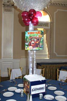 Donkey Kong Themed Centerpiece Donkey Kong Themed Centerpiece for Video Game Themed Bar Mitzvah