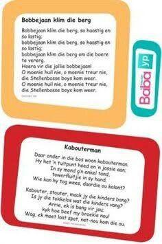 Hier's die woorde van al die ou bekende Afrikaanse rympies en liedjies, in pragtig ontwerpte drukstukke deur Baba & Kleuter! Toddler Learning Activities, Teaching Kids, Kids Learning, Rhyming Preschool, Preschool Printables, Grade R Worksheets, Storybook Party, Afrikaans Language, Kids Poems