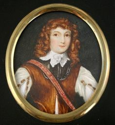 WELL PAINTED WATERCOLOR PORTRAIT MINIATURE OF PRINCE RUPERT (1619-1682)   eBay