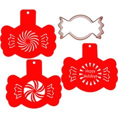 Peppermint Candy Cookie Cutter and Stencil Set