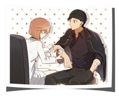 """""""Shuichi and Ai"""" by smile2528 ❤ liked on Polyvore featuring art"""