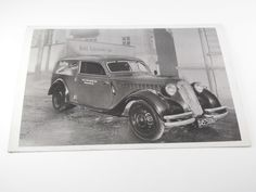 """Rare Vintage Postcard-Old BMW Car with """"Tropen"""" Advertisement-Germany 1930s"""