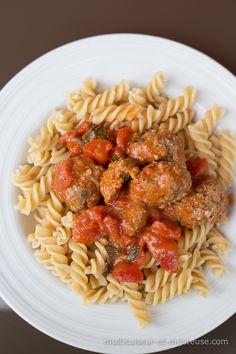 Boulettes de viande et feta à la sauce tomate au MULTICUISEUR