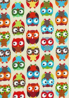 my bright owl fabric