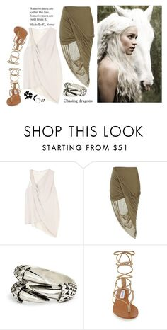 """""""Daenerys Stormborn"""" by music23260721-1 ❤ liked on Polyvore featuring Helmut Lang, Bardot, Steve Madden and GUESS"""