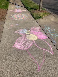Sidewalk Chalk, Stepping Stones, Outdoor Decor, Home Decor, Stair Risers, Decoration Home, Room Decor, Sidewalk Chalk Paint, Home Interior Design