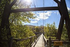 Buchanan Swinging Bridge in Botetourt County, VA is one of the bridges highlighted in this article - Virginia's Swinging Bridges.