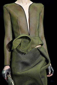 draping detail - armani privé spring 2012 couture