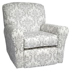 Little Castle Linen Bordeaux Reclining Swivel Glider