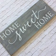 Home sweet home wood sign // rustic wood sign // rustic home decor This popular sign is now available in a weathered brown!!