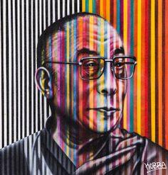"Colorful Famous Figures  Titled ""Peace"" by Eduardo Kobra"