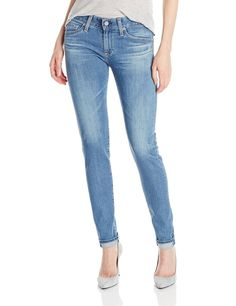 AG Adriano Goldschmied Women's Nikki Relaxed Skinny Jean In 15 Years Saltwater The nikki is slightly relaxed in the thigh with a skinny bottom leg opening. Ag Jeans, Skinny Jeans, Jeans Brands, Adriano Goldschmied, 15 Years, Fashion Brands, Topshop, Denim, How To Wear