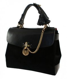 Handbag scamosciata