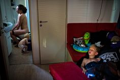 The photographer's family, early one morning on summer holiday in northern Italy | Soren Bidstrup