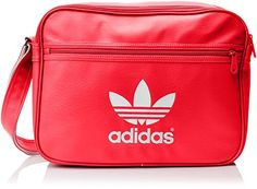 Adidas Airline Adicolor Bag - Lush Red/White, One Size · Bepper School Bags, Old School, Adidas Bags, School Memories, Fashion Bags, Adidas Originals, 1980s, Messenger Bag