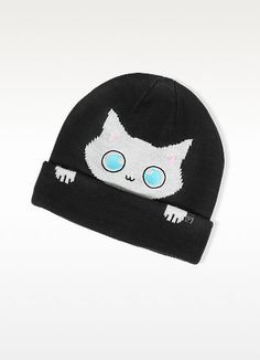 KARL LAGERFELD Peek A Boo Cat Women S Beanie Hat.  karllagerfeld  peek a boo 6b0056afda6d