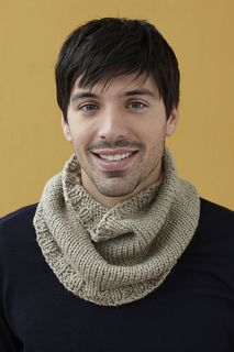 Knit up this neckwarmer for a fashionable accessory to cozy up to in any weather. (Lion Brand Yarn)