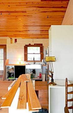 How to cover popcorn ceiling with wood. #diy