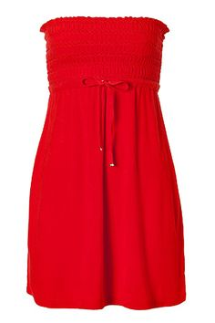 Perfect for swimsuit cover-up.  JUICY COUTURE  Tomato Smocked Dress