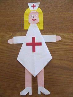 Nurse crafts for preschool Body Preschool, Preschool At Home, Preschool Crafts, Toddler Crafts, Crafts For Kids, Arts And Crafts, Astronaut Craft, Community Helpers Activities, Nurse Crafts