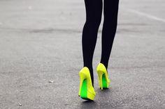 Walking on neon! #neon