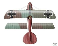 Albatros D.III by Ronny Bar Obltn. Manfred von Richthofen Jagdstaffel 11 Brayelles, France, April 1917