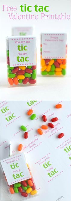 Free Tic Tac Valentine Printable | wineandglue.com | Makes for an easy and super cute Valentine!