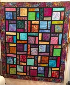 My First Stain Glass Quilt Bargello Quilts, Batik Quilts, Scrappy Quilts, Easy Quilts, Scrap Quilt Patterns, Pattern Blocks, Beginner Quilt Patterns, Quilting Projects, Quilting Designs