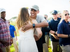 I would have kicked the bastard out!!! Stephanie and Brian Tobe met President Obama on their wedding day when he came to play golf at their venue, the Torrey Pines Golf Course in San Diego,...