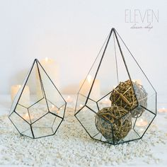 Glass geometric florarium  Handmade Geometric by ElevenDecorShop