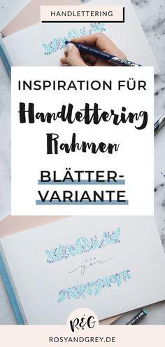 Handlettering Rahmen sehen nicht nur super cool aus, sondern sind auch  noch ganz einfach zu gestalten. Auch wenn du Lettering Anfänger bist,  kannst du mit den ersten Tricks wunderschöne Rahmen für deine eigenen Werke zaubern. Heute gebe ich dir drei easy Ideen für Handlettering  Rahmen mit Step-by-Step Anleitung zum Nachmachen! Hol Mich Ab, Hand Lettering Alphabet, Diy Papier, Diy Letters, Super, Tricks, About Me Blog, Bullet Journal, Inspiration