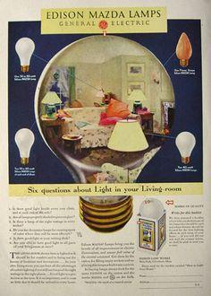 1931 Edison Mazda Lamps Ad