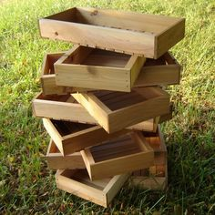 Wooden Seed Trays, Pack Of Three
