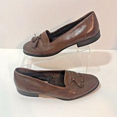 Lanvin Paris Mens Loafer Tassel Leather Italy Size 7.5 Brown Tan EU 40  #Lanvin #LoafersSlipOns
