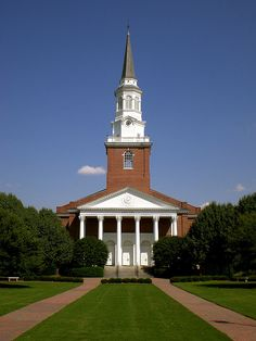 Binkley Chapel at Southeastern Baptist Theological Seminary in Wake Forest, NC - My husband received his Masters of Divinity from here. The campus is beautiful.