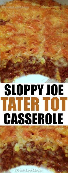 Sloppy Joe Tater Tot Casserole Recipe
