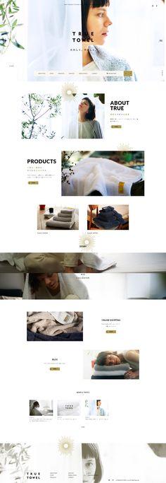 TRUE TOWEL 公式サイト (トゥルータオル) Web Design, Email Design, Site Design, Web Layout, Layout Design, Web Portfolio, Web Inspiration, Banner Design, Website