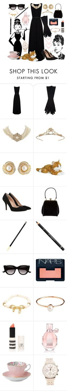 """""""DIY Halloween Costume: Holly Golightly from Breakfast At Tiffany's"""" by laarancia ❤ liked on Polyvore featuring Tiffany & Co., Alice + Olivia, Maison Margiela, Carolee LUX, Miss Selfridge, Susan Caplan Vintage, Mint Velvet, Dolce&Gabbana, Givenchy and Witchery"""