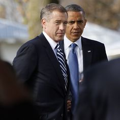 Brian Williams on the campaign trail with President Obama (Photo: NBC Nightly News) #NBCPolitics