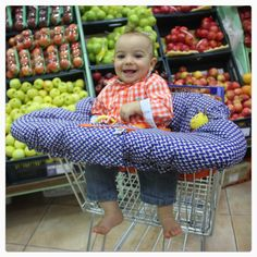 baby m Shopping cart cover- the ideal baby shower present and a great product to keep your baby comfy & germ free while shopping.  Follow @baby_products on twitter and instagram. Facebook page baby-m